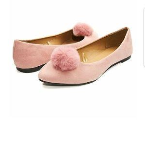 TINSLEY Pink Pom Pom Flats
